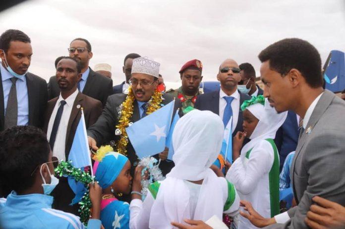 Farmajo finally arrives in Dhusamareb